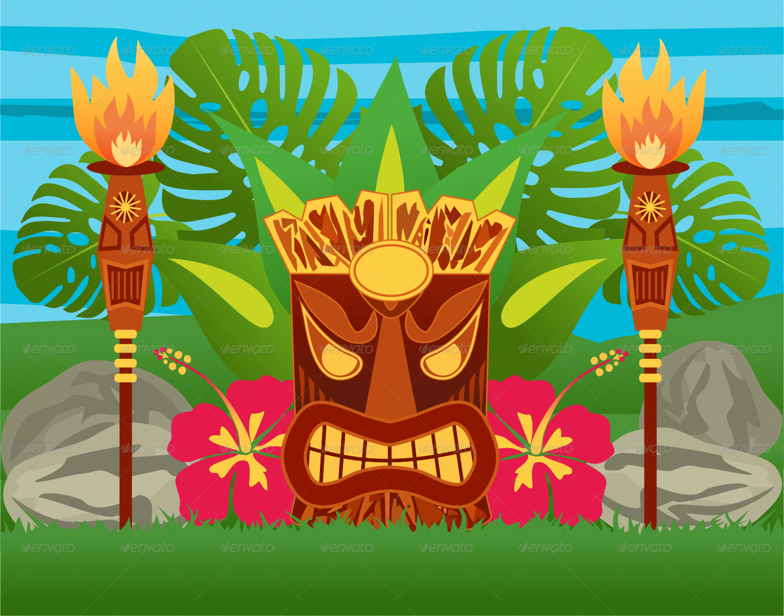 Tiki Statue by ragerabbit   GraphicRiver