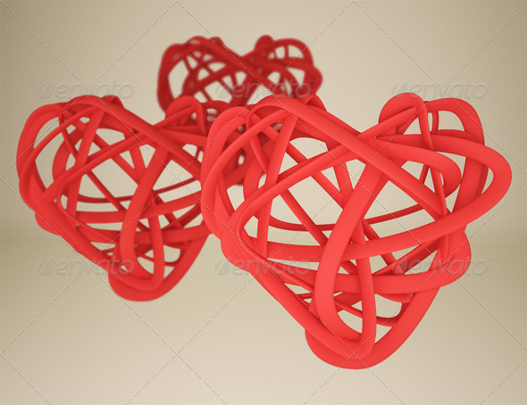 3D Hearts with Zdepth Effect
