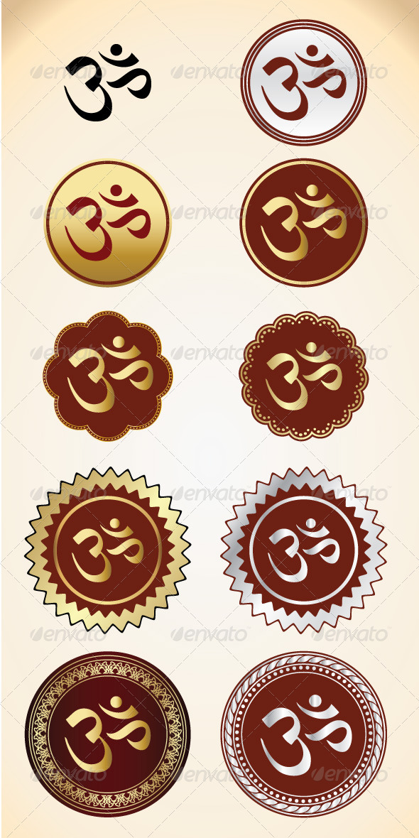 10 Vector OM Shape  - Religion Conceptual