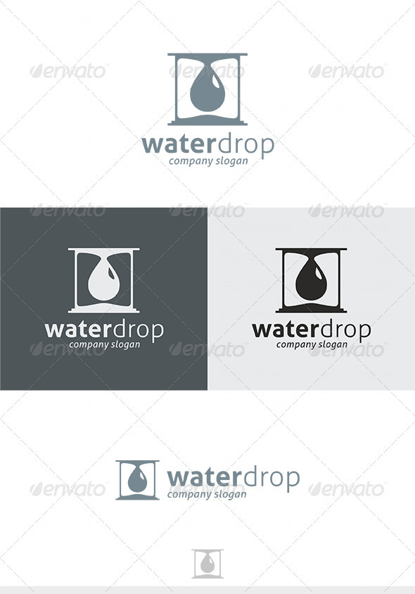 Water Drop Logo - Vector Abstract