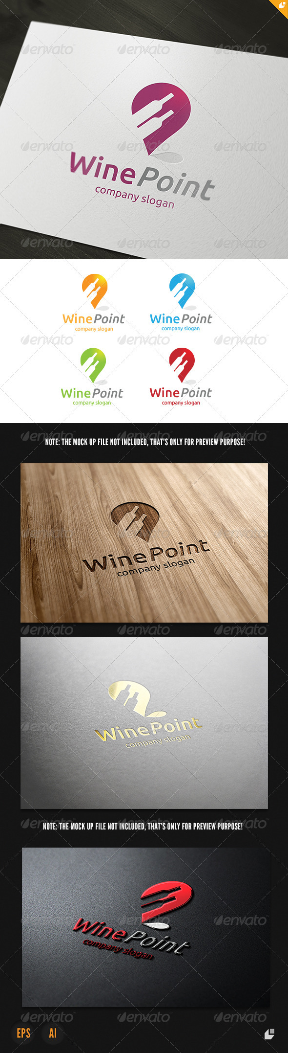 Wine Point Logo - Objects Logo Templates