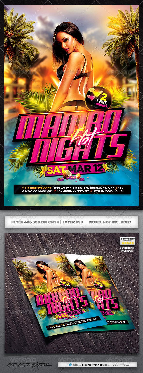 Latin Night Flyer - Clubs & Parties Events