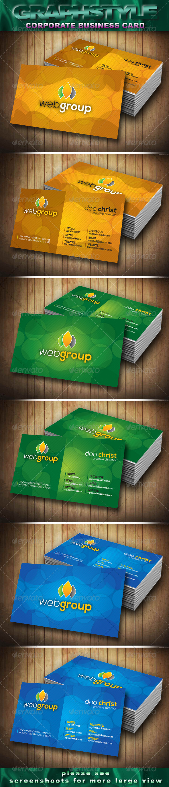 Webgroup Corporate Business Card - Corporate Business Cards