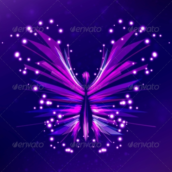 Shiny Butterfly Abstract Vector - Abstract Conceptual