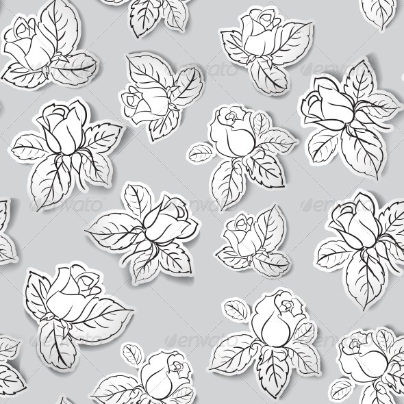 Rose Seamless Background - Miscellaneous Vectors