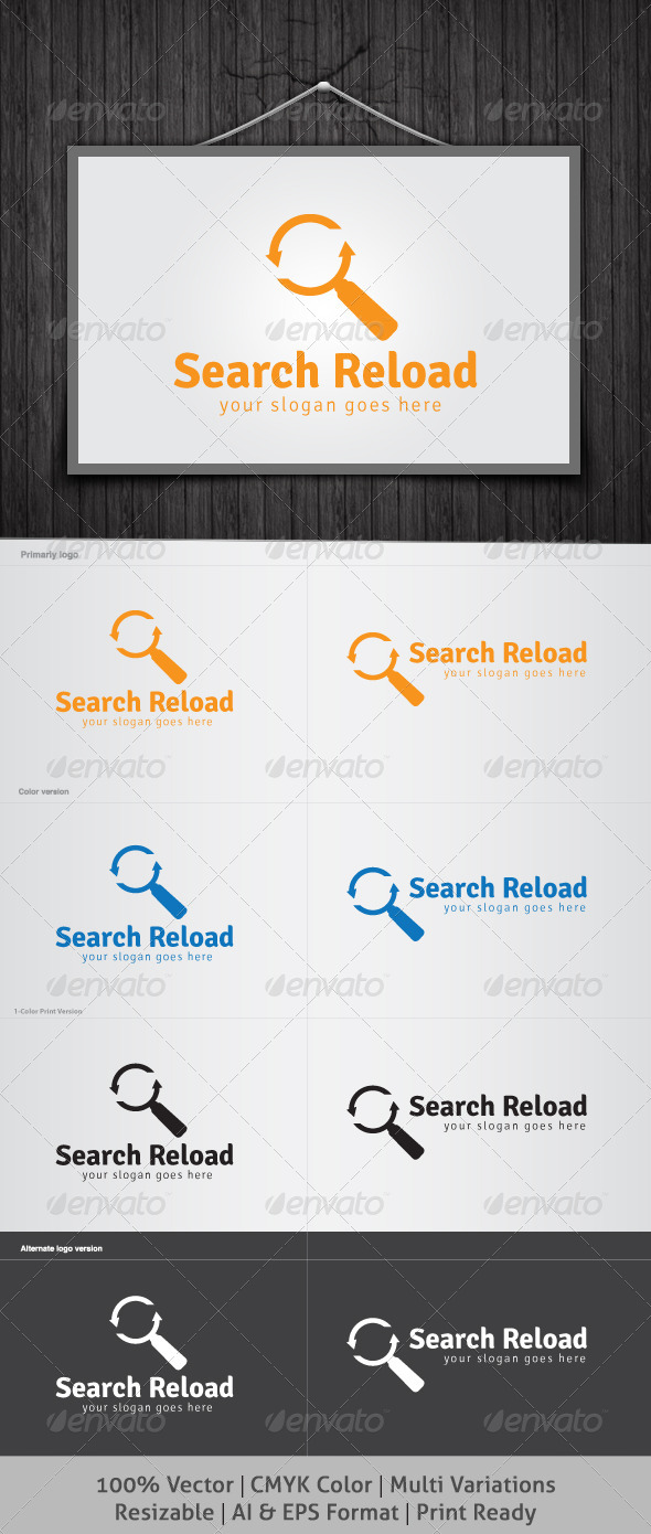 Search Reload Logo - Objects Logo Templates