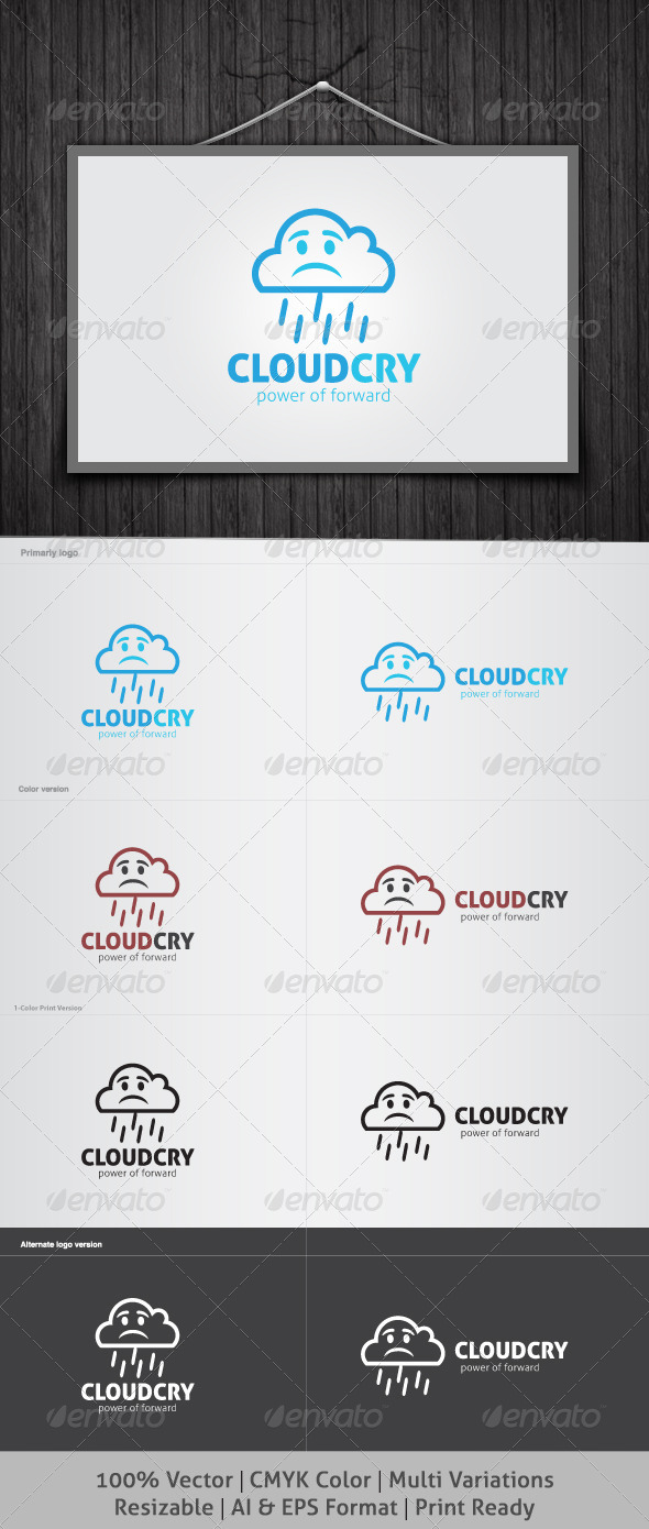 Cloud Cry Logo - Nature Logo Templates