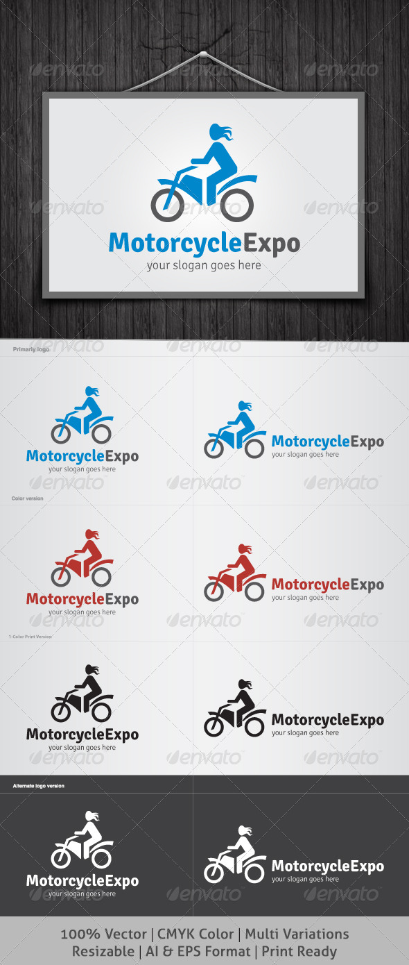 Motorcycle Expo Logo - Objects Logo Templates