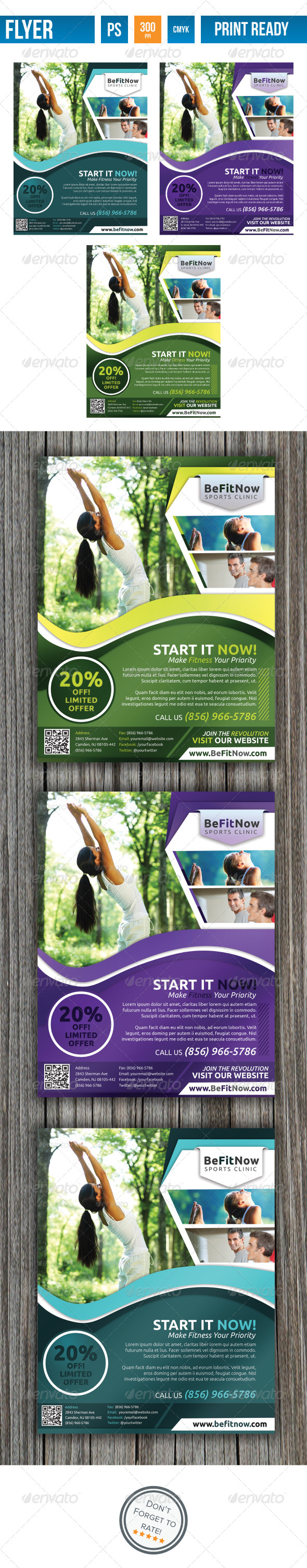 Fitness Flyer V2 - Flyers Print Templates