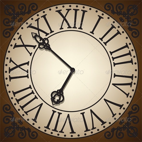 Antique Clock Face - Retro Technology