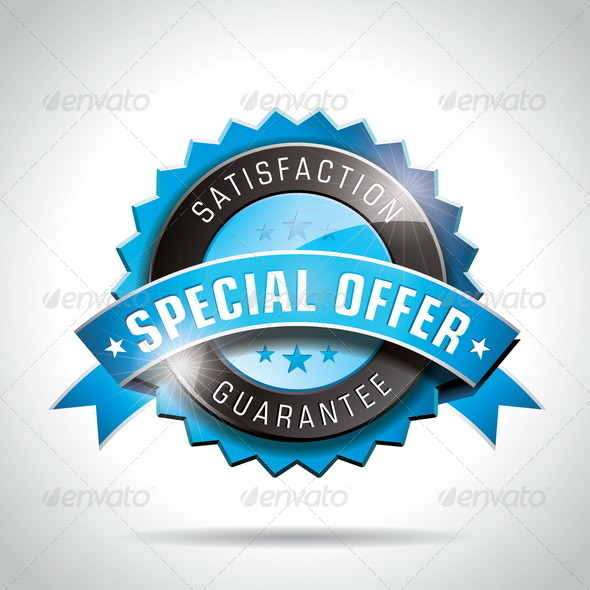 Vector Special Offer Labels Illustration - Web Elements Vectors