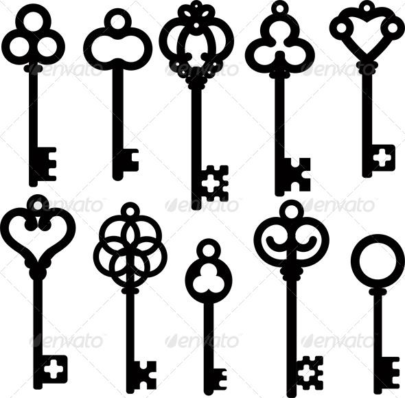 Antique Skeleton Keys - Retro Technology