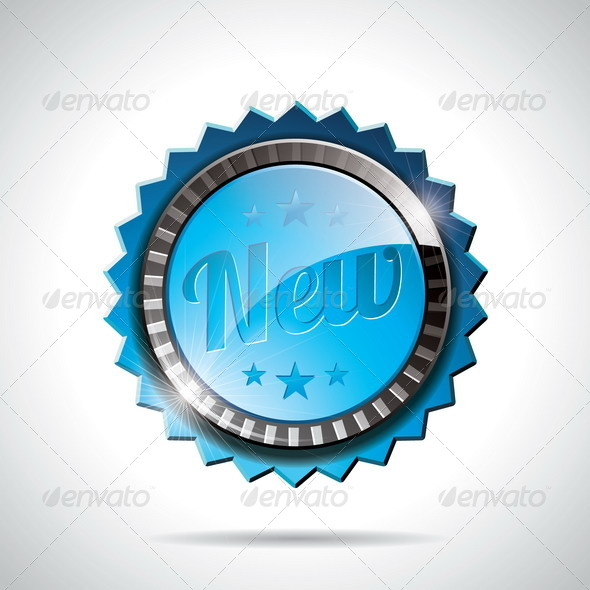 Vector New Labels Illustration design - Web Elements Vectors