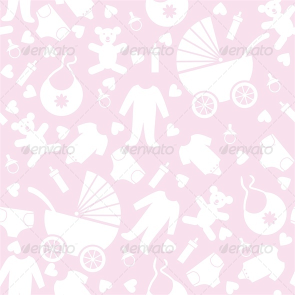 Pink Baby Background for Baby Shower - Backgrounds Decorative