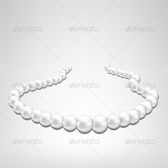 Pearl Necklace on Gray Background - Retail Commercial / Shopping