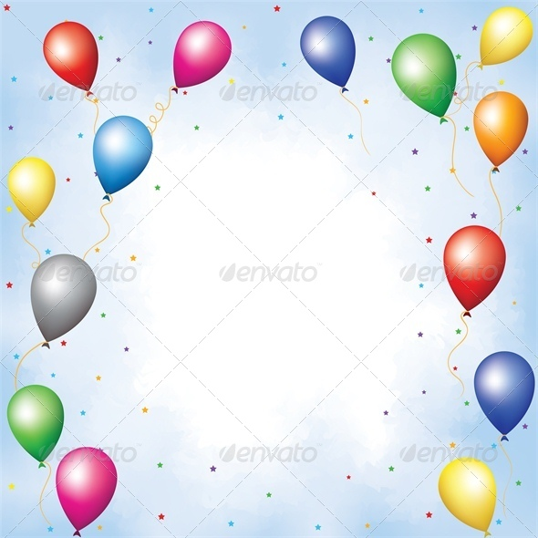 Colourful Balloons and Confetti - Miscellaneous Seasons/Holidays