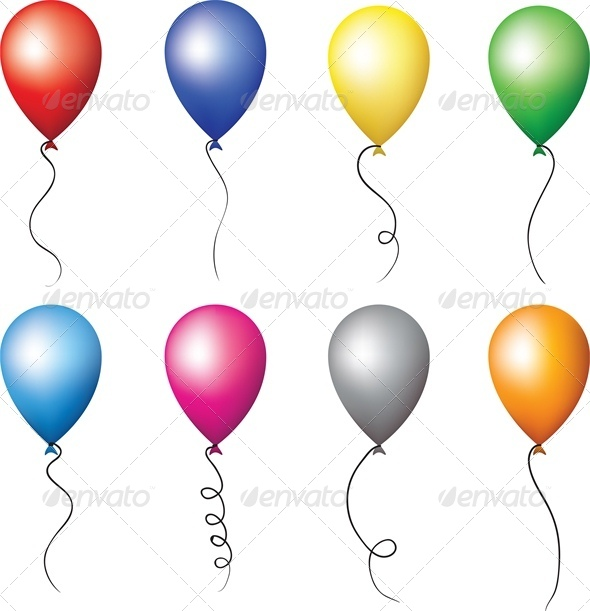 Colourful Balloons for Holiday Decoration - Man-made Objects Objects
