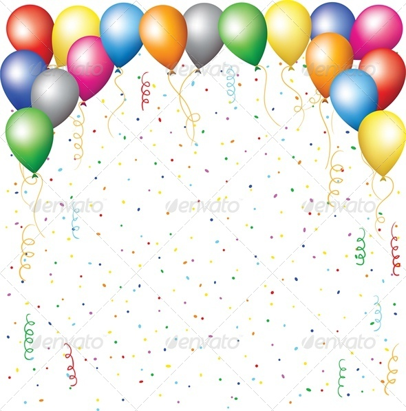 Balloons, Confetti and Serpantine - Birthdays Seasons/Holidays