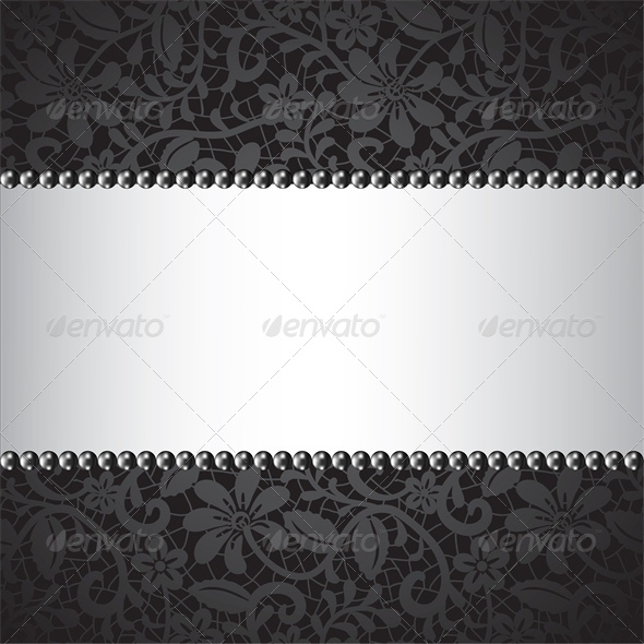 black pearl and dark lace card - Backgrounds Decorative