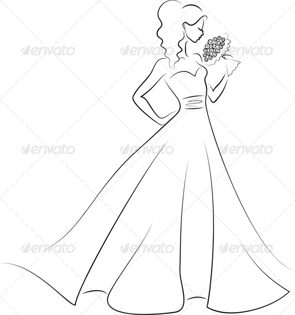 silhouette of bride with bouquet - Weddings Seasons/Holidays