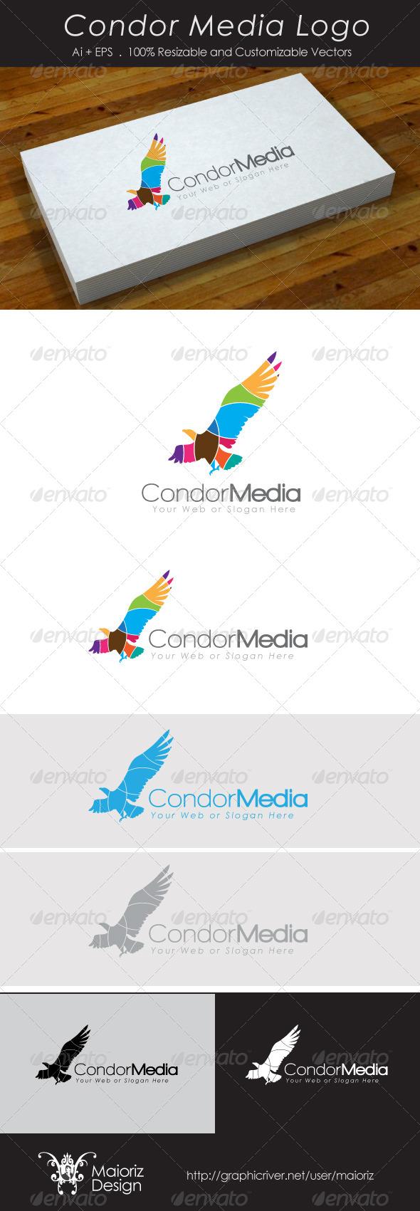 Condor Media Logo - Animals Logo Templates