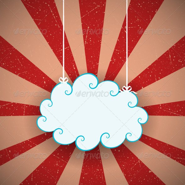 Retro Cloud Background - Backgrounds Decorative