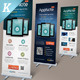 Mobile App Promotion Roll-up Banners - GraphicRiver Item for Sale