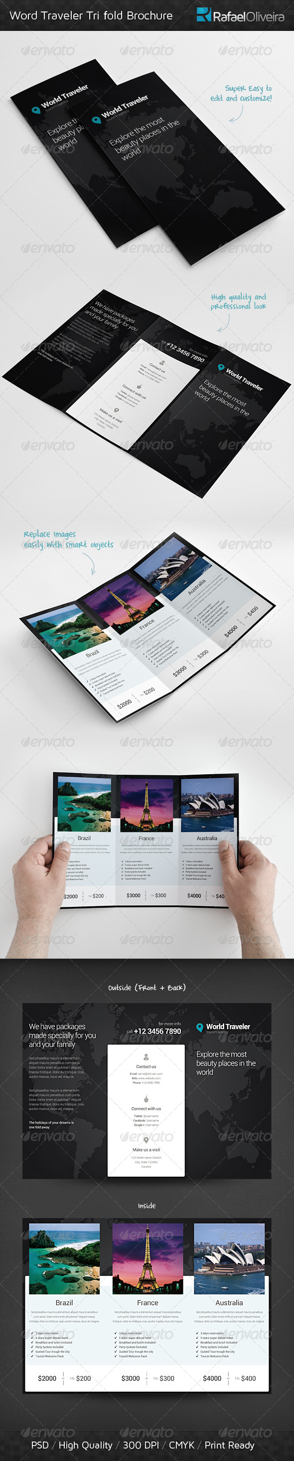 World Traveler Tri Fold Brochure - Corporate Brochures