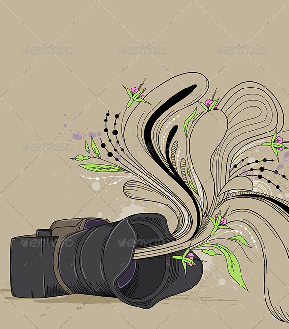 Abstract  Background with Camera - Backgrounds Decorative