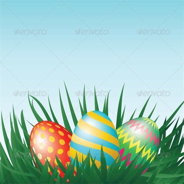 Easter Eggs and Grass - Miscellaneous Seasons/Holidays
