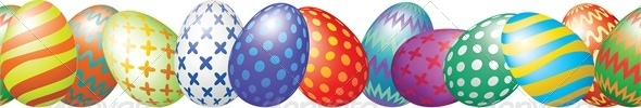 Easter Eggs Border - Miscellaneous Seasons/Holidays