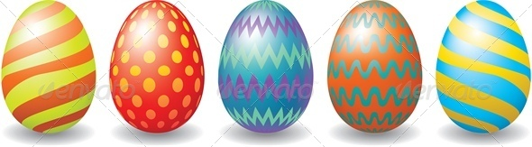Easter Eggs Set - Miscellaneous Seasons/Holidays