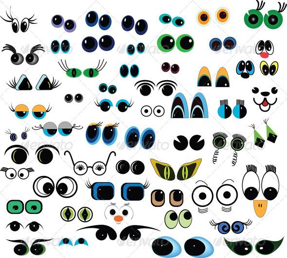 Cartoon Vector Eyes Collection - Miscellaneous Vectors