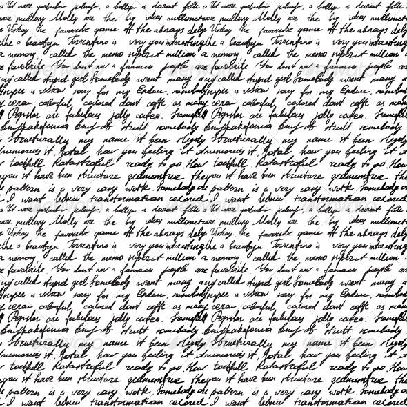 Seamless Background with Handwritten Letter - Miscellaneous Conceptual