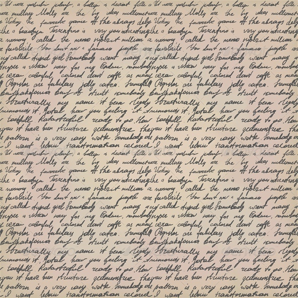 Seamless Background with Handwritten Letter - Retro Technology