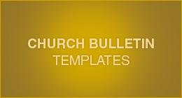 Church Bulletin Templates on GraphicRiver