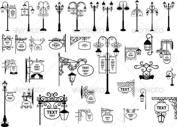 Street Signs and Lanterns - Man-made Objects Objects