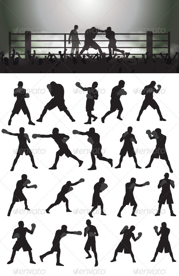 Boxing Silhouettes - Sports/Activity Conceptual