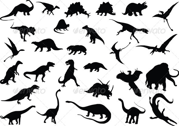 Vector Dinosaurs - Monsters Characters