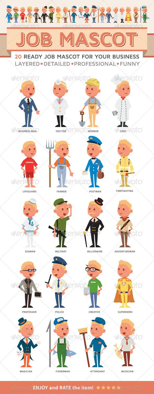 Job Mascot - People Characters