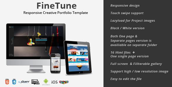 FineTune - Responsive Creative Portfolio Template