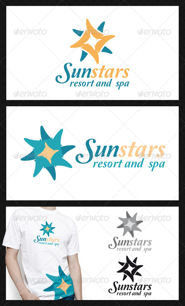 Sun Stars Logo Template - Vector Abstract