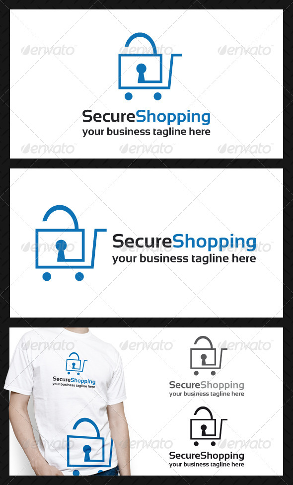 Secure Shopping Logo Template - Objects Logo Templates