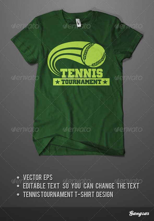 Tennis Tournament T-Shirt - Sports & Teams T-Shirts