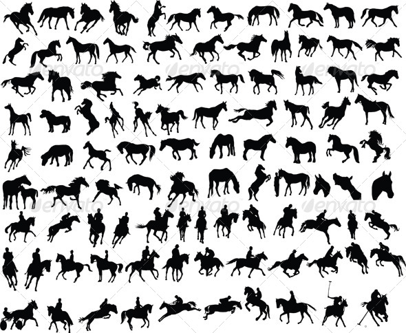 100 Horses - Animals Characters