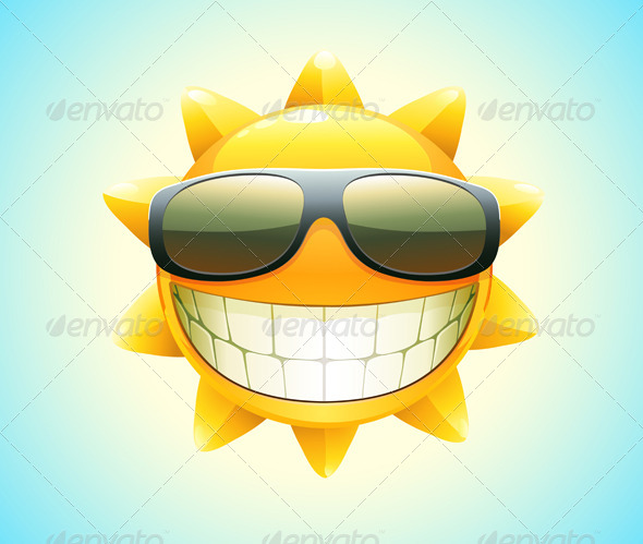 happy summer sun i - Characters Vectors