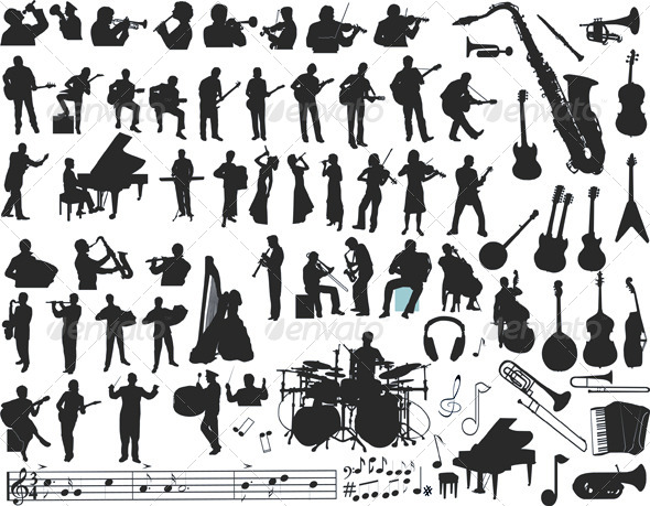Music Vector - People Characters