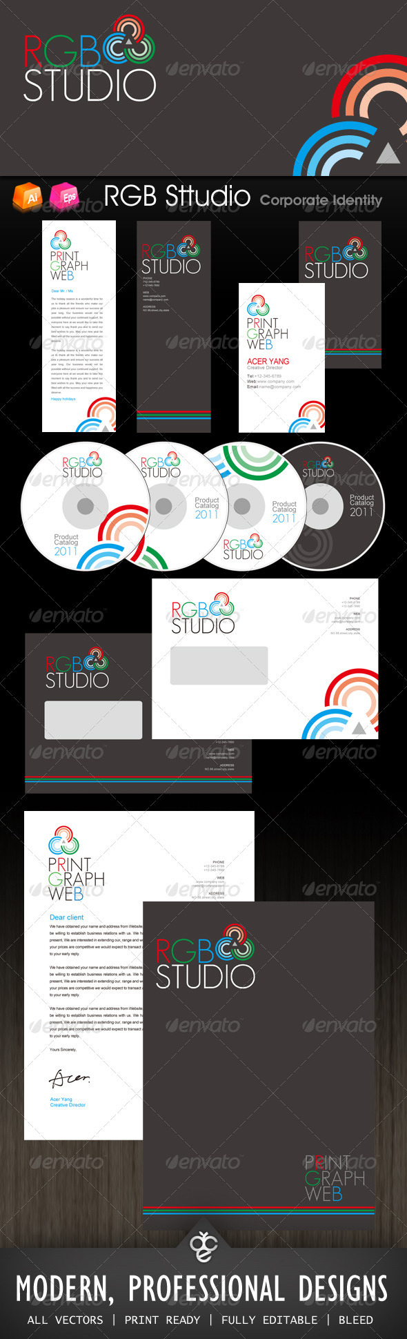 RGB Studio Corporate Identity - Stationery Print Templates