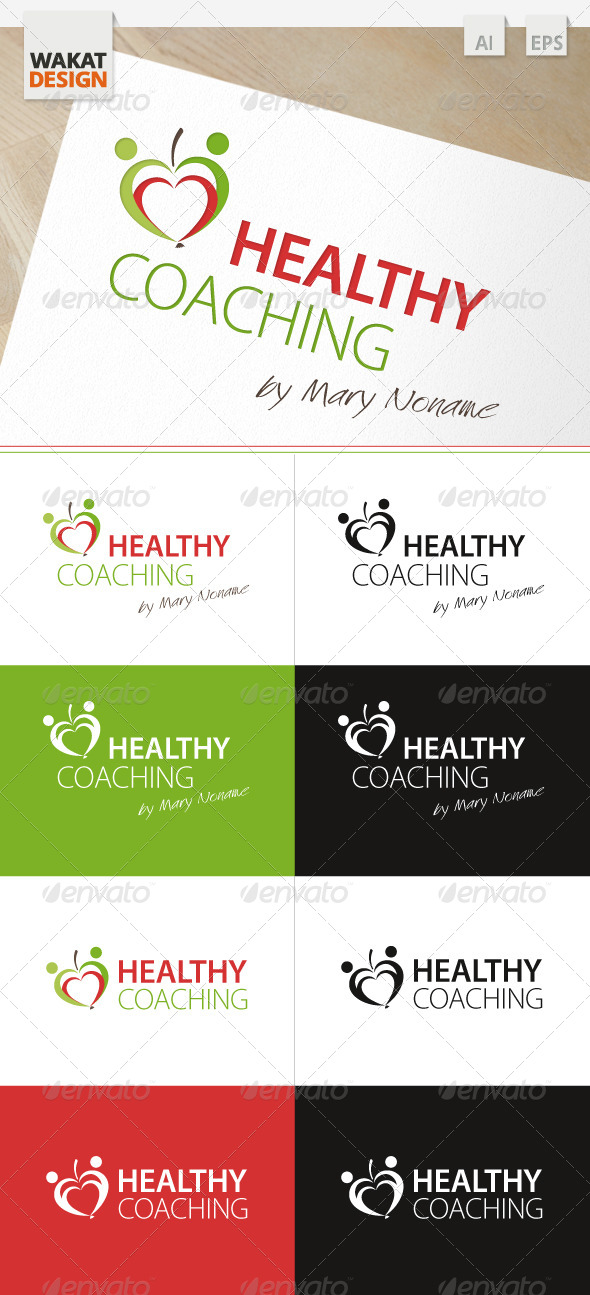 Logo Healthy Coaching - Humans Logo Templates