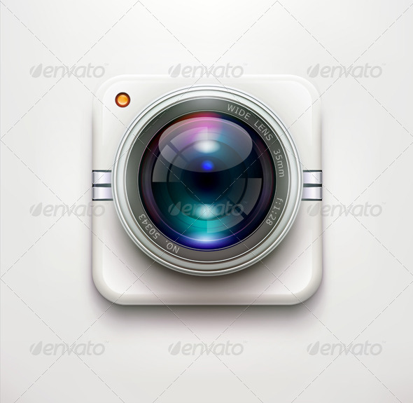 Security Camera Icon  - Objects Vectors